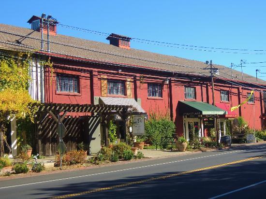 Wine Country Chocolates: Their building in Glen Ellen