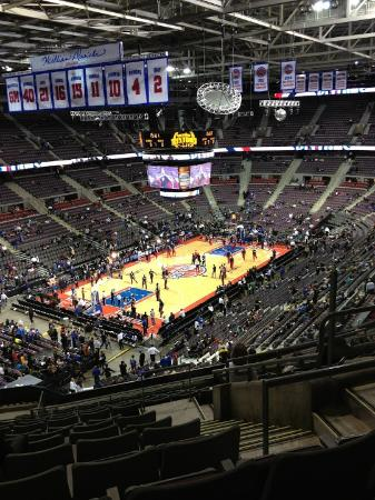 Palace of Auburn Hills: The view from Section 205, Row 12