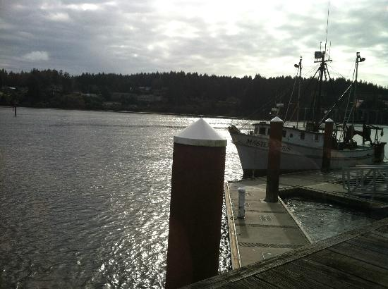 Mo's Seafood: View from our table