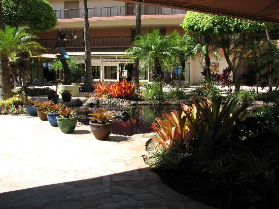 Marriott's Maui Ocean Club  - Lahaina & Napili Towers: Koi pond inside open air main lobby