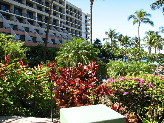 Marriott's Maui Ocean Club - Molokai, Maui & Lanai Towers: View of one of the wings of the main resort.