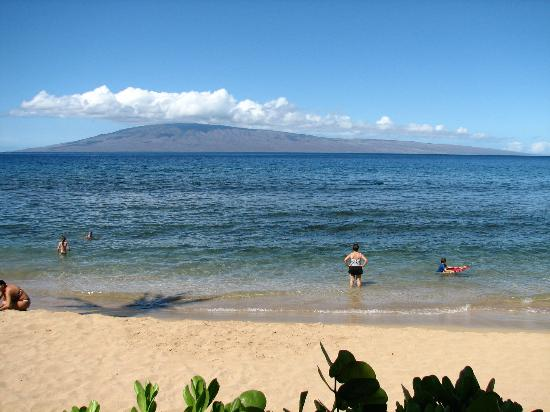 Marriott's Maui Ocean Club  - Lahaina & Napili Towers: View from the beach at Marriott looking straight out.