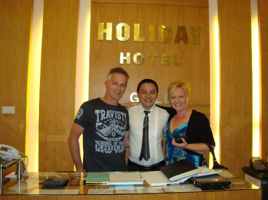 Holiday Gold Hotel: Minh, great guy running the desk .Champion...