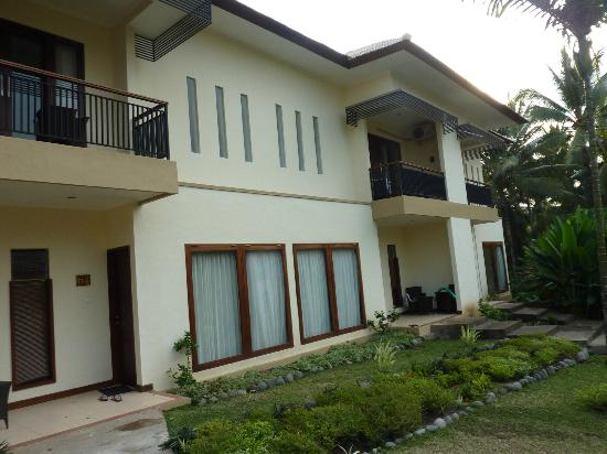 Medewi Bay Retreat: New building, we were upstairs on right, 9 apartments in this block