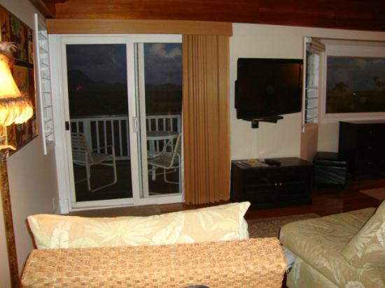 Kauai Banyan Inn: View from walking into the room
