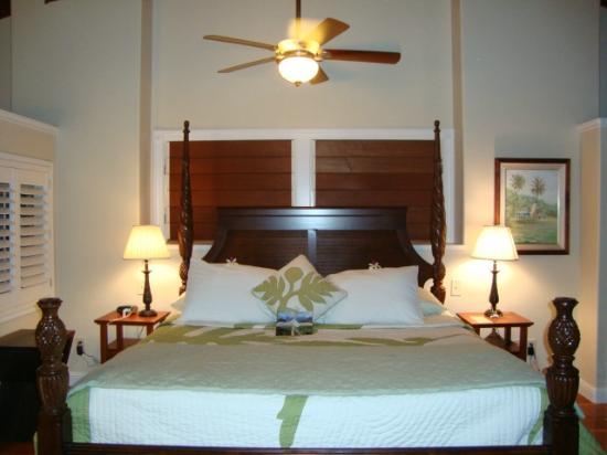 Kauai Banyan Inn: Full view of the bed