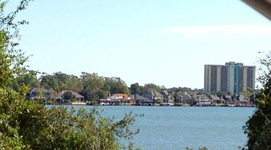 La Torretta Lake Resort & Spa: View from road leading to resort