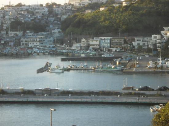 Kancho : 部屋からの眺めホテルの遊歩道から海釣り公園に行けます