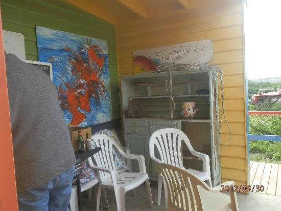 King Island: verandah where the BBQ is