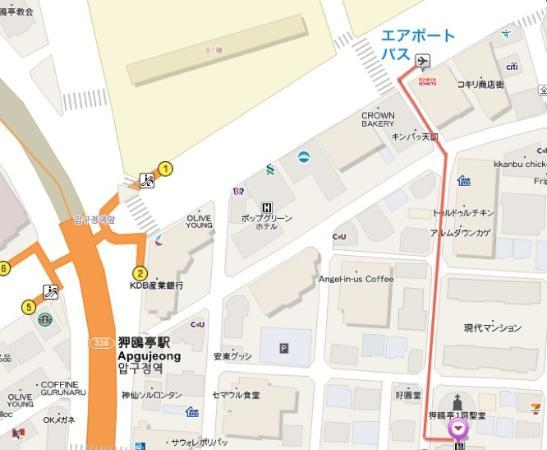 Map to AnGuesthouse Picture of Guesthouse Gangnam Seoul TripAdvisor