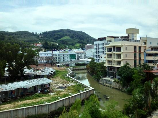 Squareone: view from my room. bottom-left shows the ghetto of Phuket, shows the contrast here.