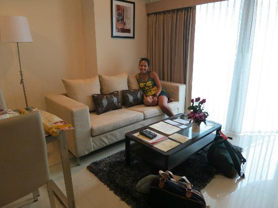 Viva Garden Serviced Residence: Living Room area of our One Bedroom Suite