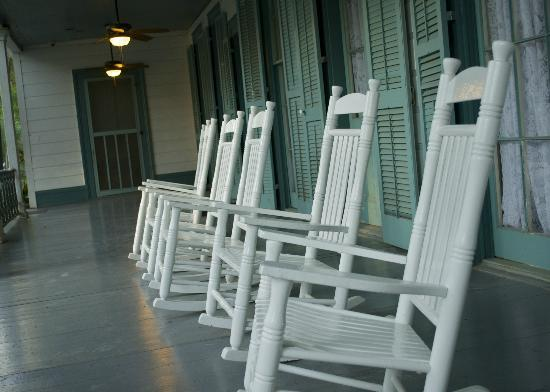 The Myrtles Plantation: Rocking chairs on porch