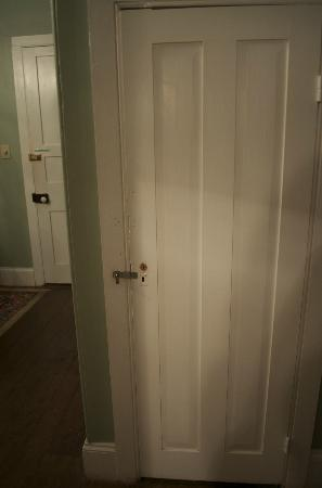 The Myrtles Plantation: Locked door within our room.
