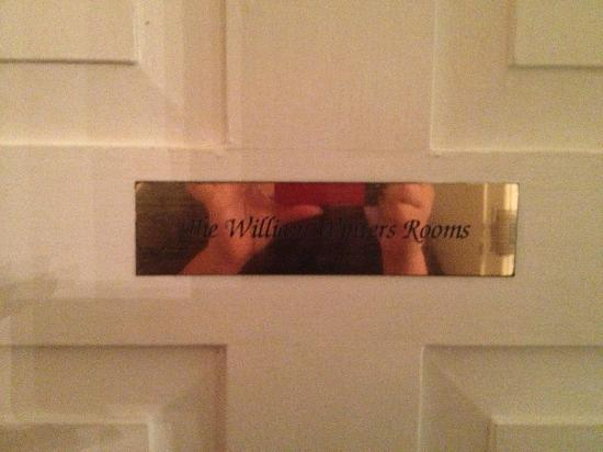 The Myrtles Plantation: door sign on room door