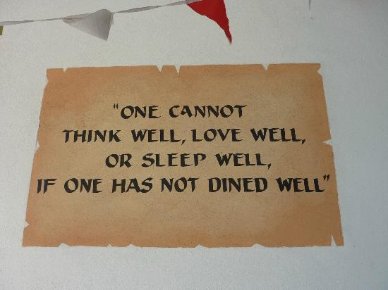 Quotes Leading To The Restaurant Picture Of Brazils Restaurant