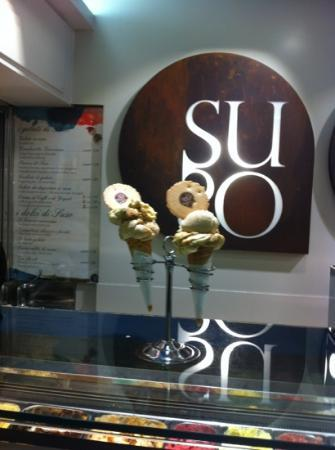 Suso Gelatoteca : one scoop of suso gelato and one dont remember the 2nd scoop