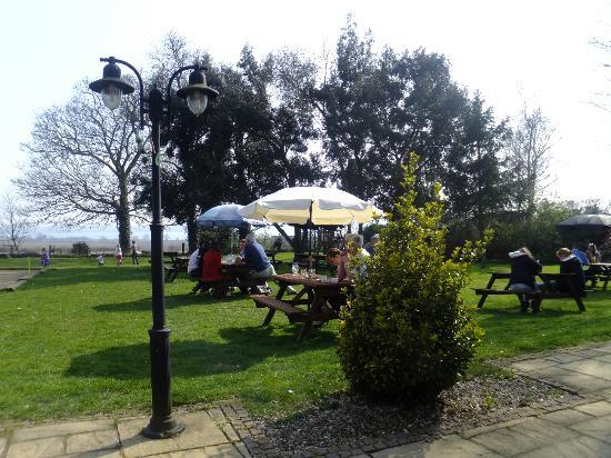 The Brantham Bull: view of the stour from our restaurant
