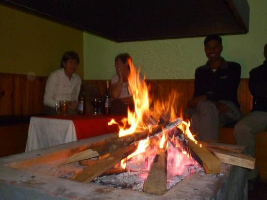 Balthali Village Resort: round the cosy fire