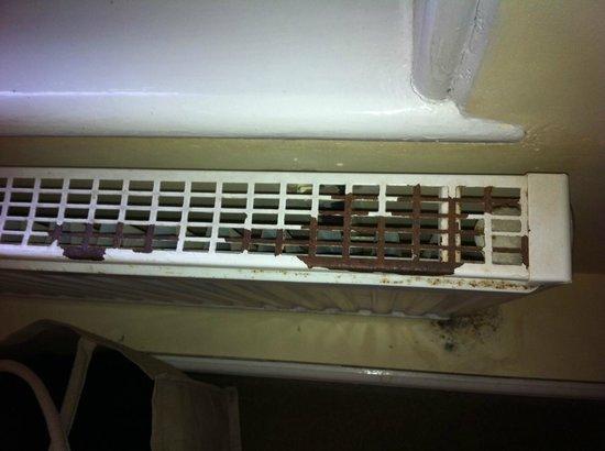 Camelot Castle Hotel: Rusty radiator