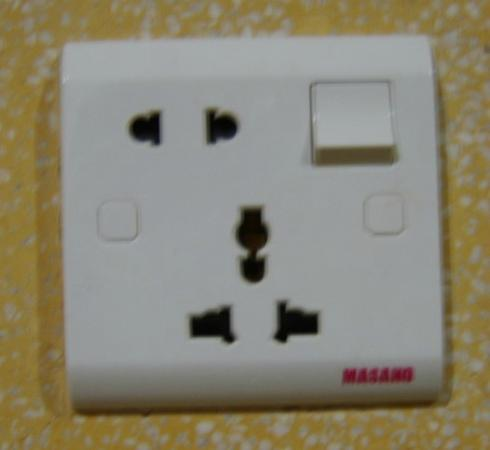 River 108 Boutique Hotel: power socket