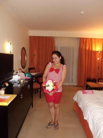 Hilton Sharks Bay Resort : bouquet de fleurs de bienvenue