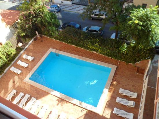 El Velero Apartments: pool from aptment