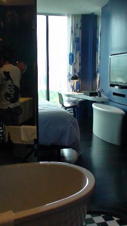 Depuis la salle de bain (séparation retractable) - Picture ...