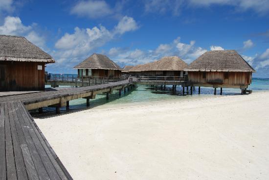 Club Med Kani: Chambres sur pilotis