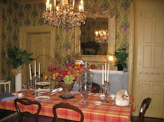 "Ryan Mansion: The ""family"" dining room"