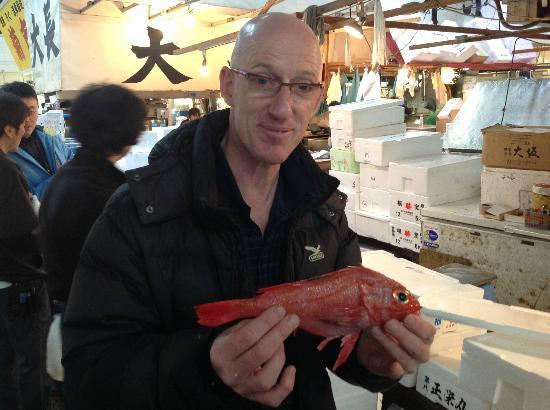 Andy's Shin Hinomoto: Can't remember the name of this sought after fish but the stall holder had saved a box for Andy