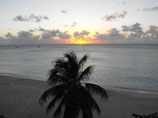 Caribbean Club: view of sunset from our deck