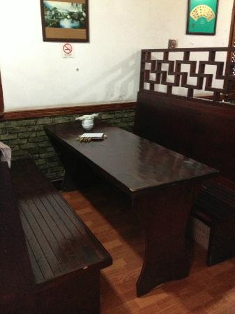 Fengjing Ancient Town : Seat in the restaurant