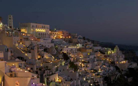 Villa Renos: Beautiful Fira at sunset