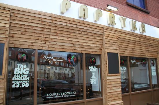 Papryka Restaurant: Front
