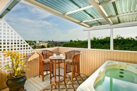 Inn at Moonlight Beach: View from the Penthouse Private Deck with Private Hot Tub