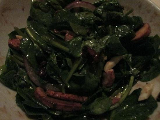 The Range Steakhouse: spinich salad