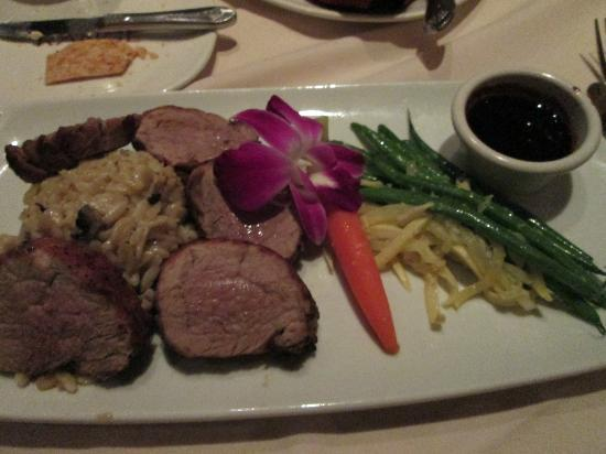 The Range Steakhouse: pork medallions