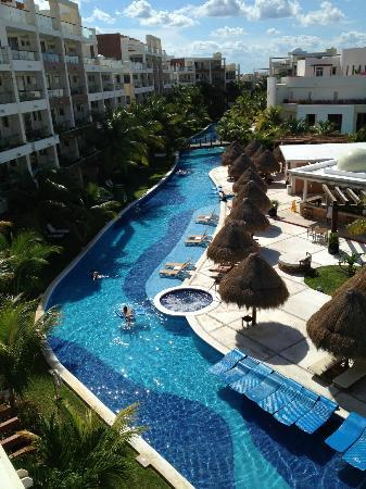 Excellence Playa Mujeres: View of the lazy river from our room