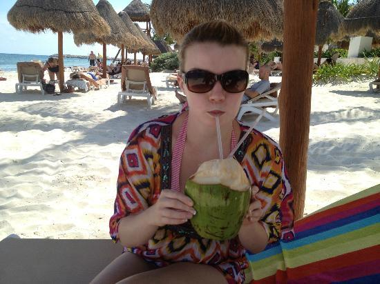 Excellence Playa Mujeres: Fresh coconut drink (only on certain days)