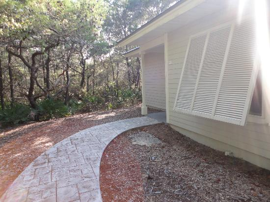 Cabins at Grayton Beach State Park: front entrance