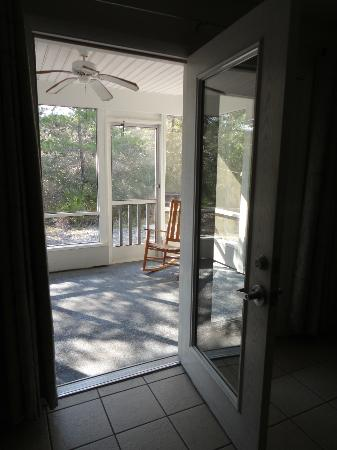 Cabins at Grayton Beach State Park: screened-in back porch