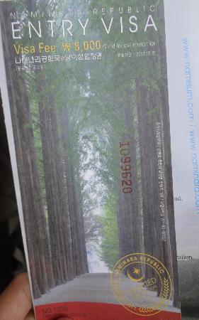 Nami Island: the ticket