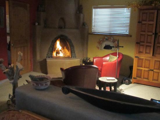Casa Gallina: Fireplace to keep you warm