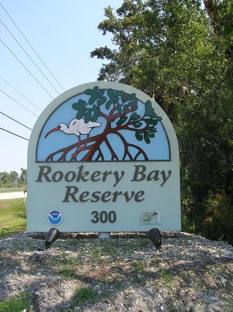Rookery Bay National Estuarine Research Reserve: Entrance Sign