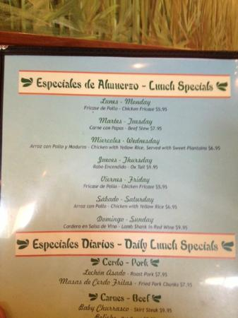Guarapo's Cuban Cuisine: lunch specials