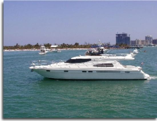 Miami boat rental for birthday party Picture of Yacht Charters in