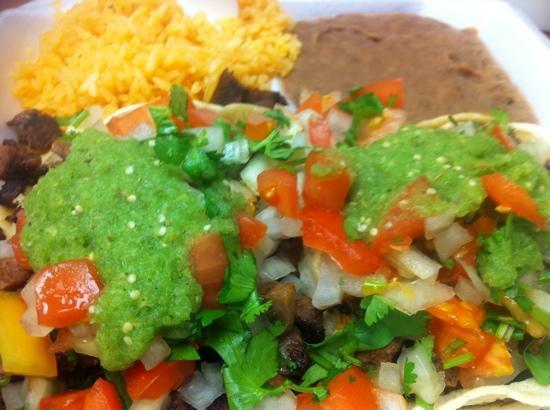 Taco Bar: Taco Bistec and Taco Langua