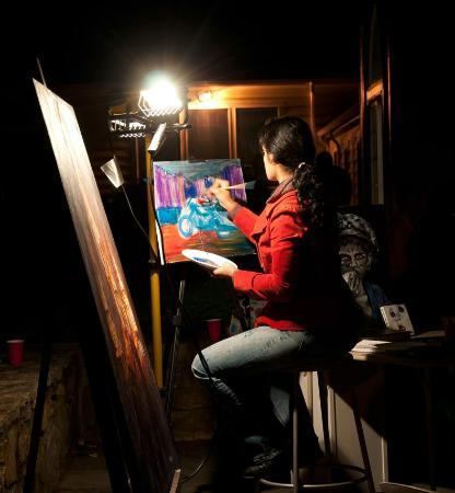 Mystic Museum of Art : Live painting during our summer concert series, Art After Dark