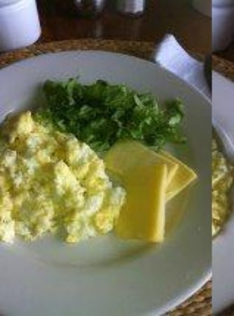 Still Beach House: Eggs and lettuce every day with no coffee or tea and random cheese - look its gross.
